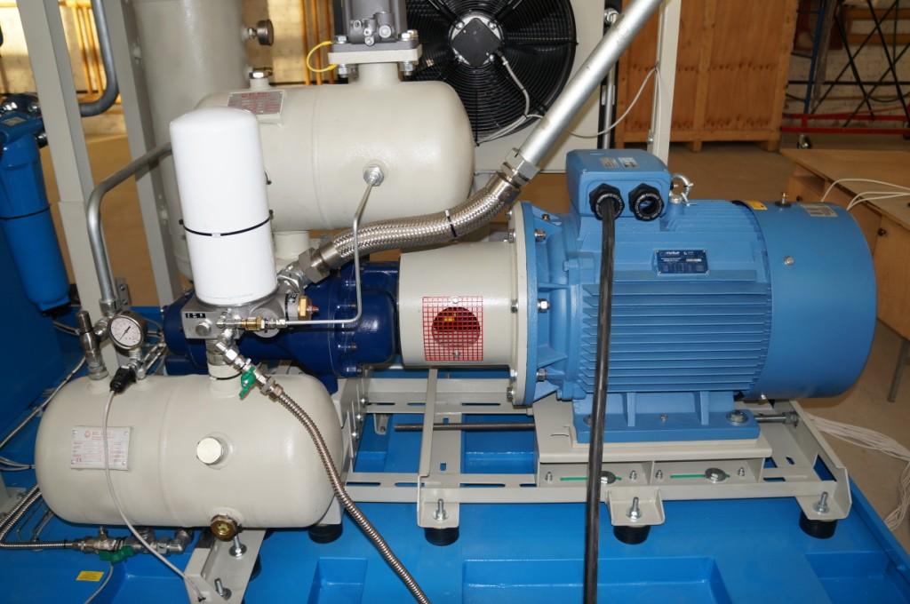 Витовой блок и электродвигатель винтового газового компрессора