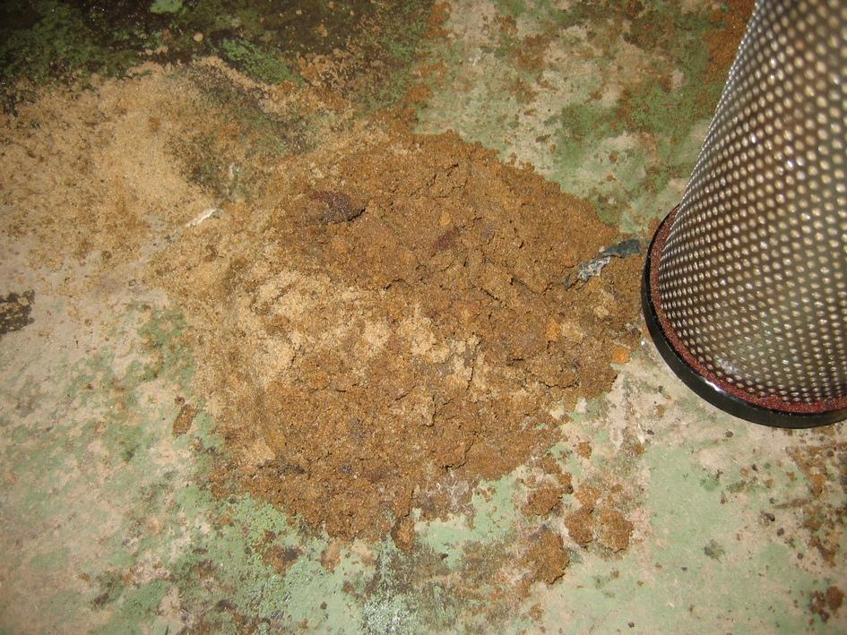 Пыль в магистральном фильтре