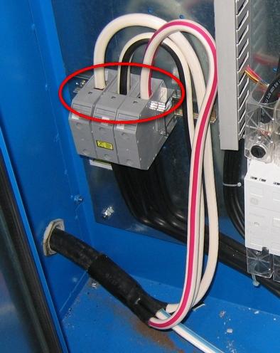 Подключение кабеля к компрессору