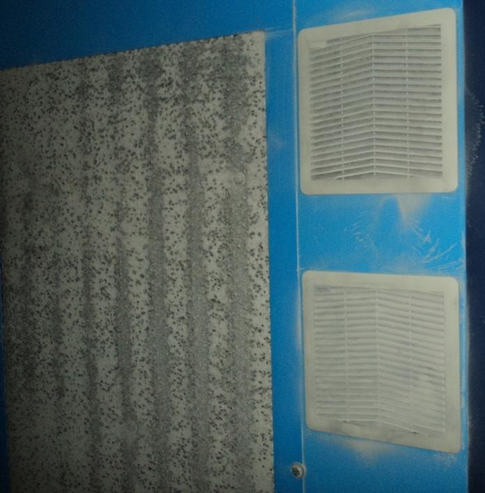 Пыль на всасывающей решетке корпуса компрессора