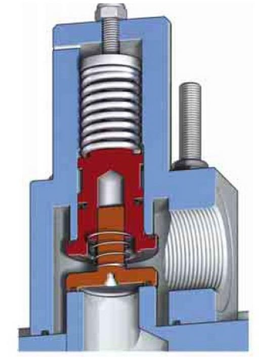 Клапан минимального давления в разрезе