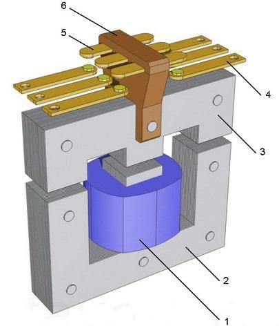 Конструкция электромагнитного контактора