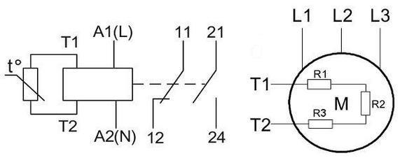 Типовая схема термисторного реле