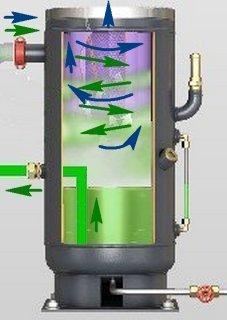 Вертикальный масляный резервуар в разрезе